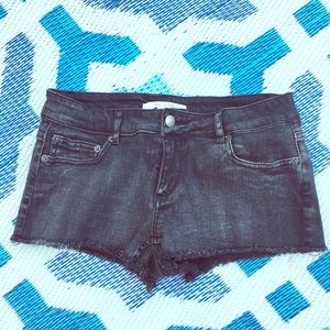 Forever 21 Black Denim Cutoff Shorts - short!
